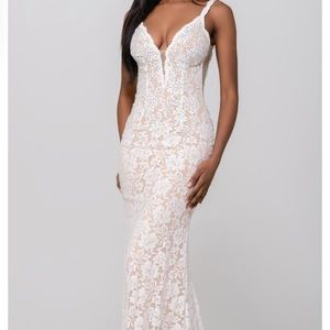 Jovani 48994 White Prom Dress